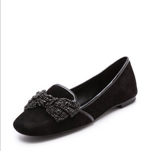 Tory Burch Bow Smoking Slippers